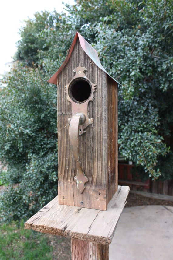 rustic bird house  Made From Reclaimed Wood
