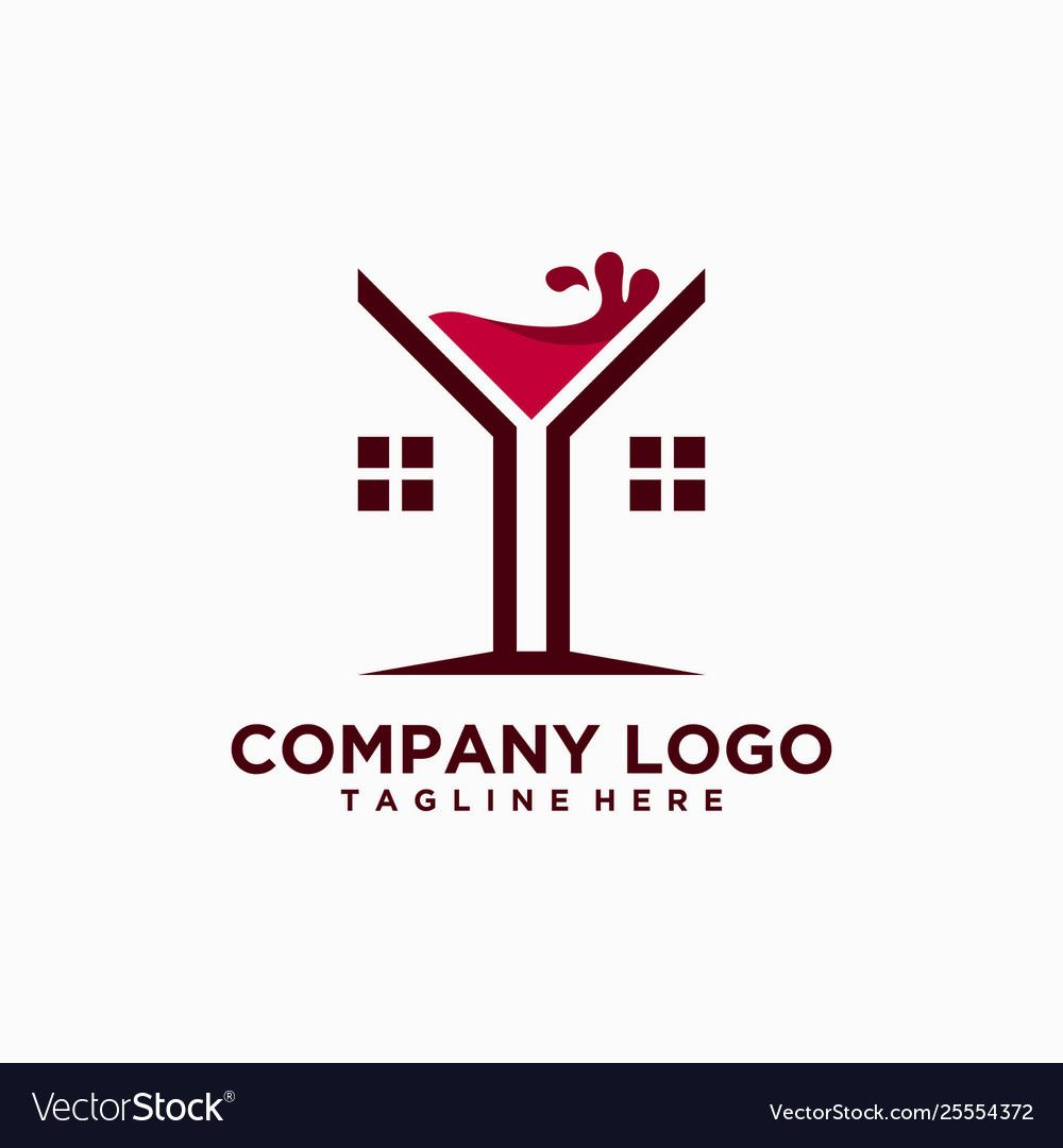 Illustrate The Home Of Wine Logos, Vector Home Of Wine
