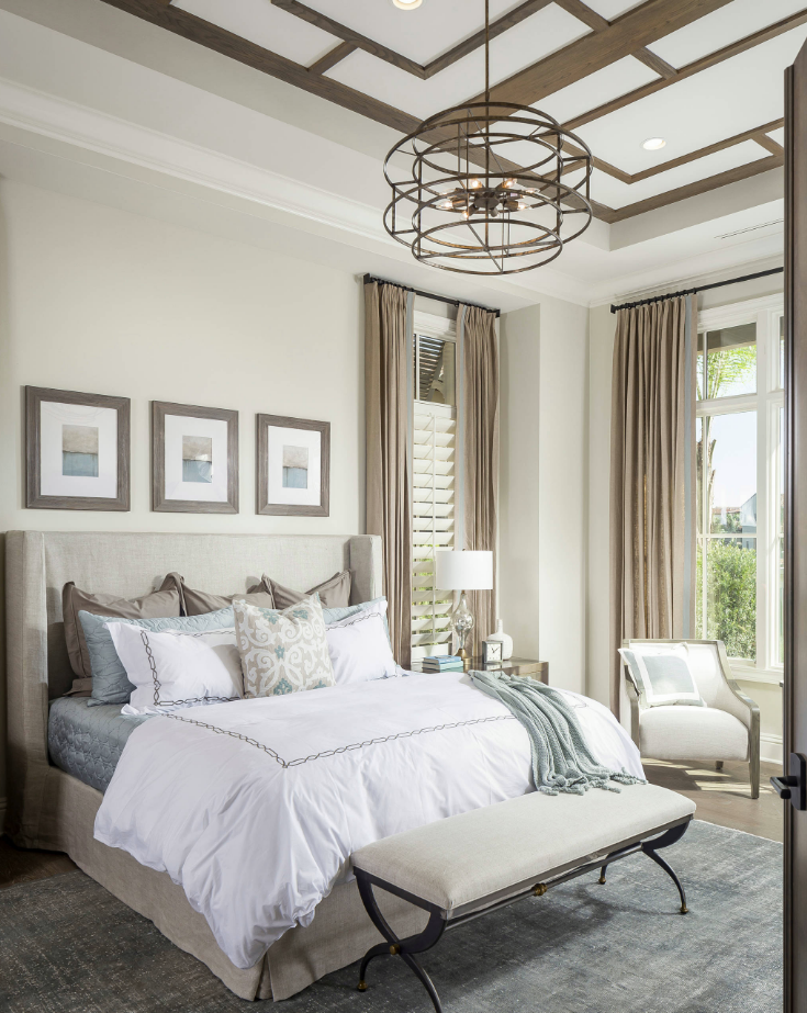 Would you rather have a bedroom with a neutral color palette like this or something brighter?
