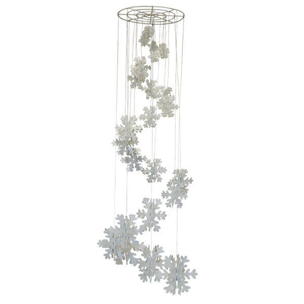 Spiral snowflake chandelier 031 16221 wedding pinterest buy spiral snowflake chandelier drop at christmastimeuk mozeypictures Choice Image