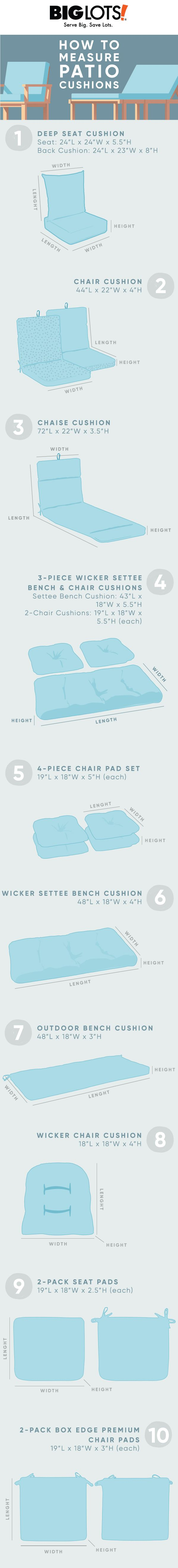 How To Measure Patio Cushions Patio Cushions Outdoor Living Decor Patio