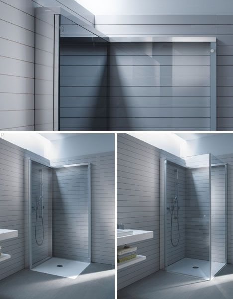 Flat Folding Shower Frees Up E In Compact Bathrooms Opene Http