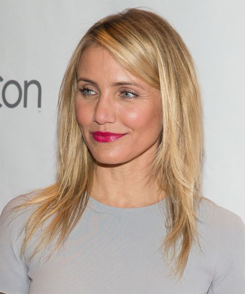 Cameron Diaz Long Straight Casual Hairstyle   Medium Blonde (Strawberry) |  Cameron Diaz, Blondes And Hair Style