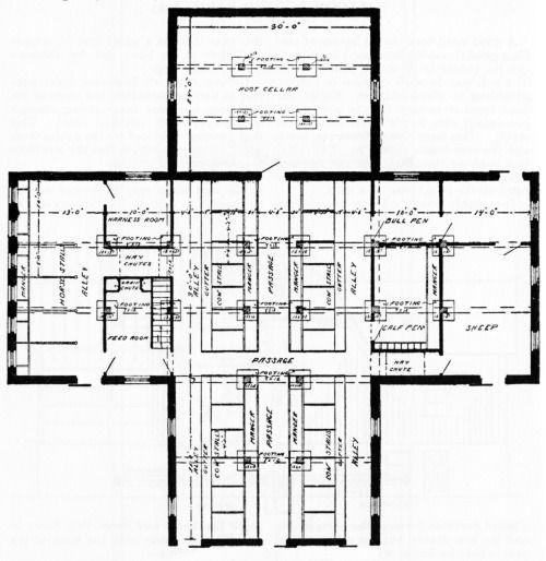 Cattle Barn Floor Plan With Images Livestock Barn Cattle