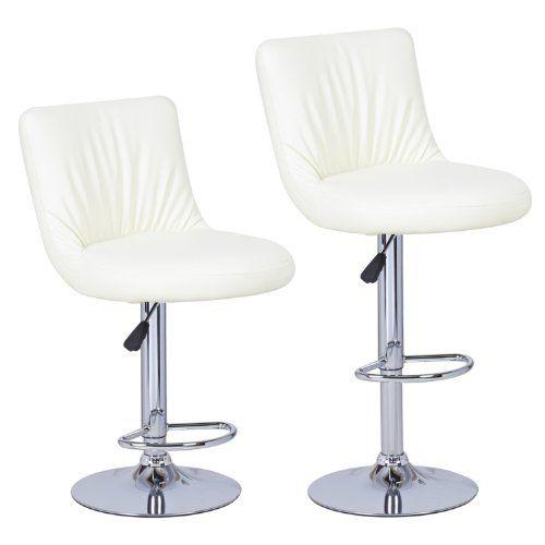 360 Degree Swivel Adjustable Oval Seat Bar Stools Set Of 2 Creamy White Bar Stools Swivel Bar Stools Stool