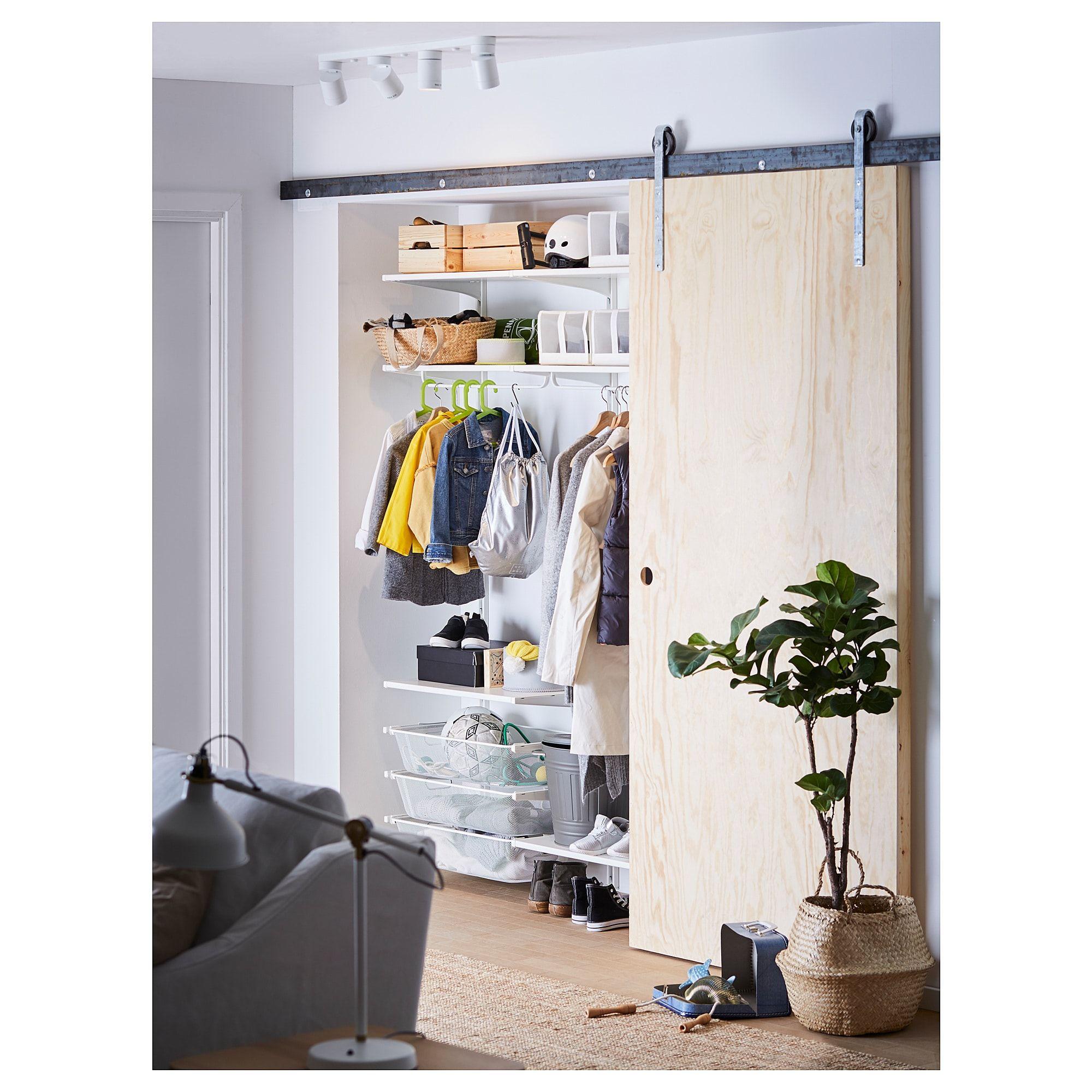IKEA ALGOT Wall upright/shelves/rod white Ikea algot