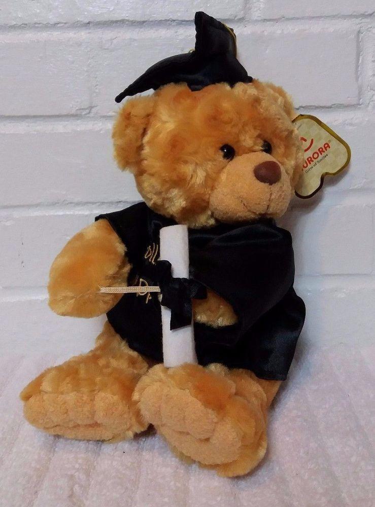 Aurora Graduation Teddy Bear Vase Hugger Stuffed Animal Plush A8