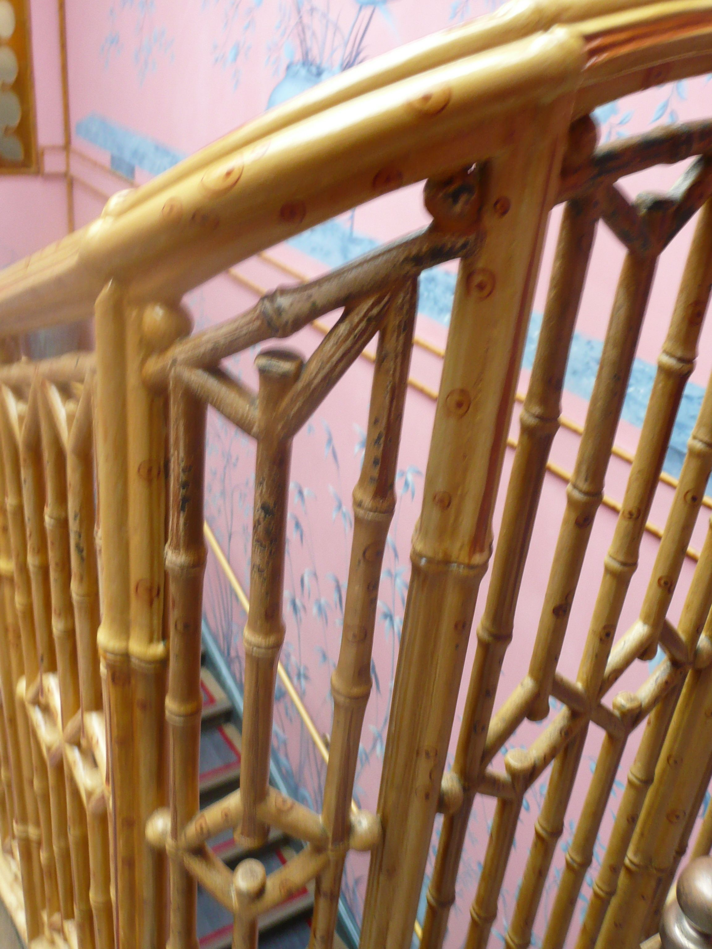 Best Detail Of The Cast Iron And Mahogany Bamboo Staircase 640 x 480
