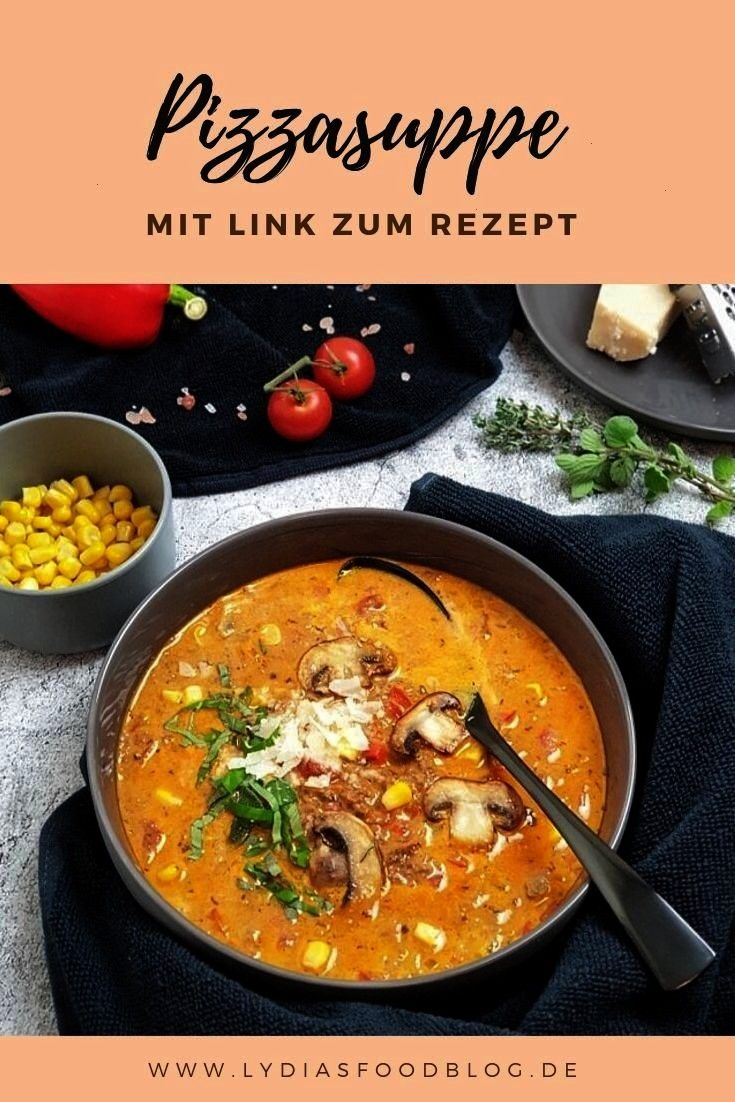 minute pizza soup with minced meat bell pepper and mushrooms tastes  The 30 minute pizza soup with minced meat bell pepper and mushrooms tastes The 30 minute pizza soup w...