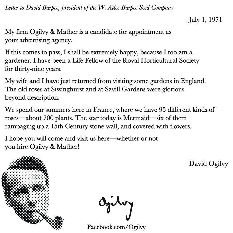 David Ogilvy Shows How A Stellar Follow Up Looks In A Memo On July