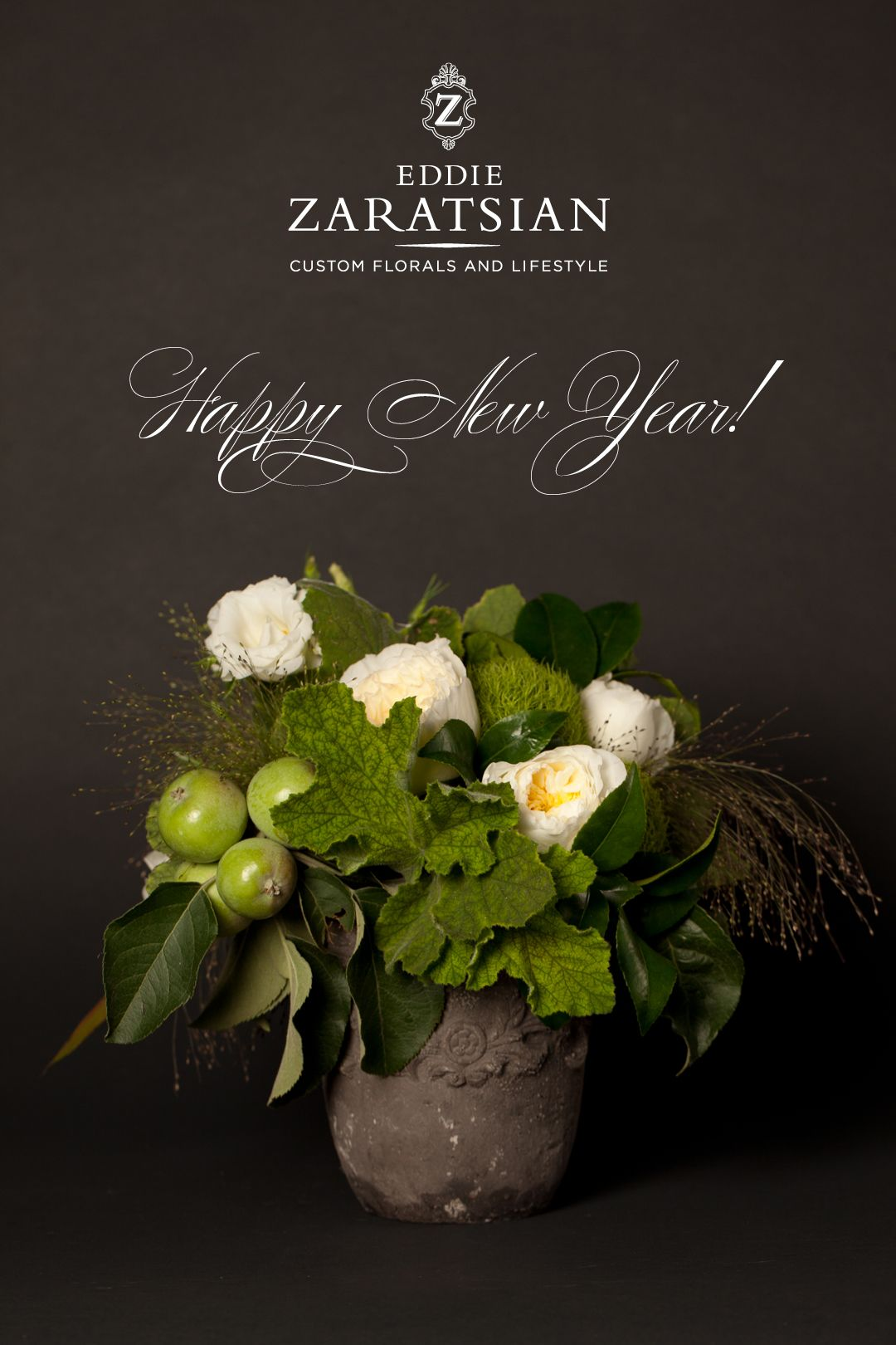 Eddie Zaratsian Floral Boutique Happy New Year Flower Designs