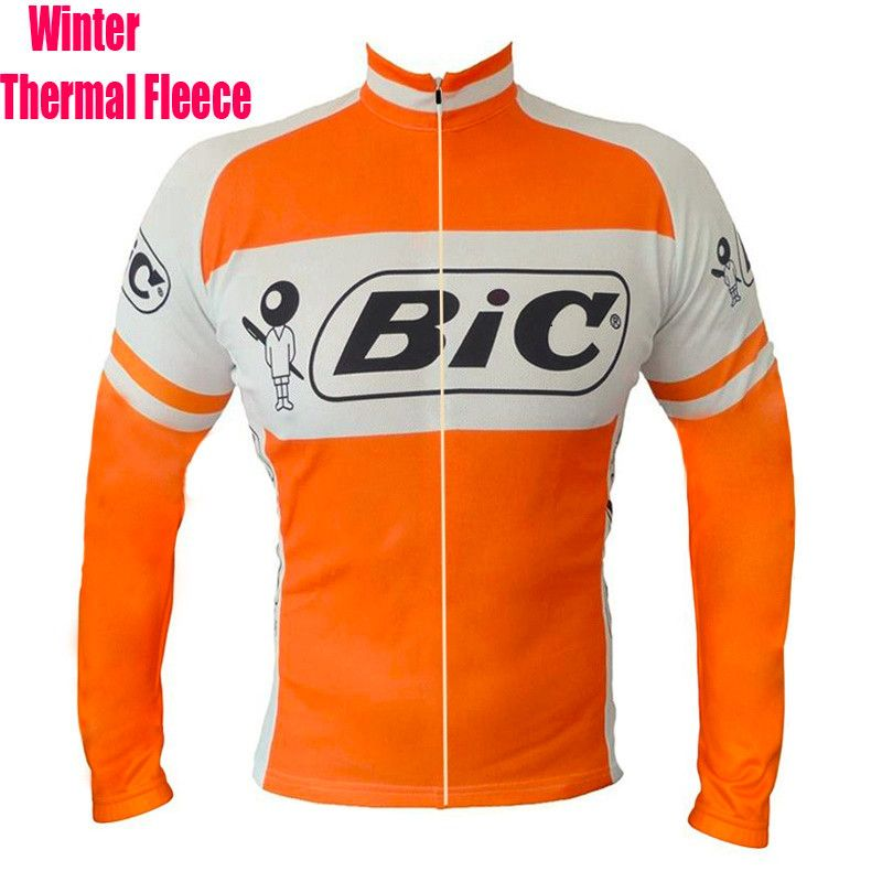 SPEEDPEAK BIC ProTeam Men Long Sleeve Cycling Jersey Winter Thermal Fleece  Bike Clothes MTB Top Quality Windproof Bicycle Jacket. 937fcc310