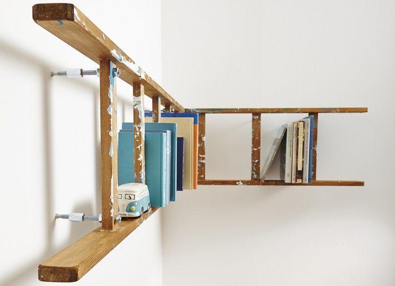 Hängeregal bücher selber bauen  Wandregal im Vintage-Look: Ein hippes Leiter-Regal | Dekorationen ...