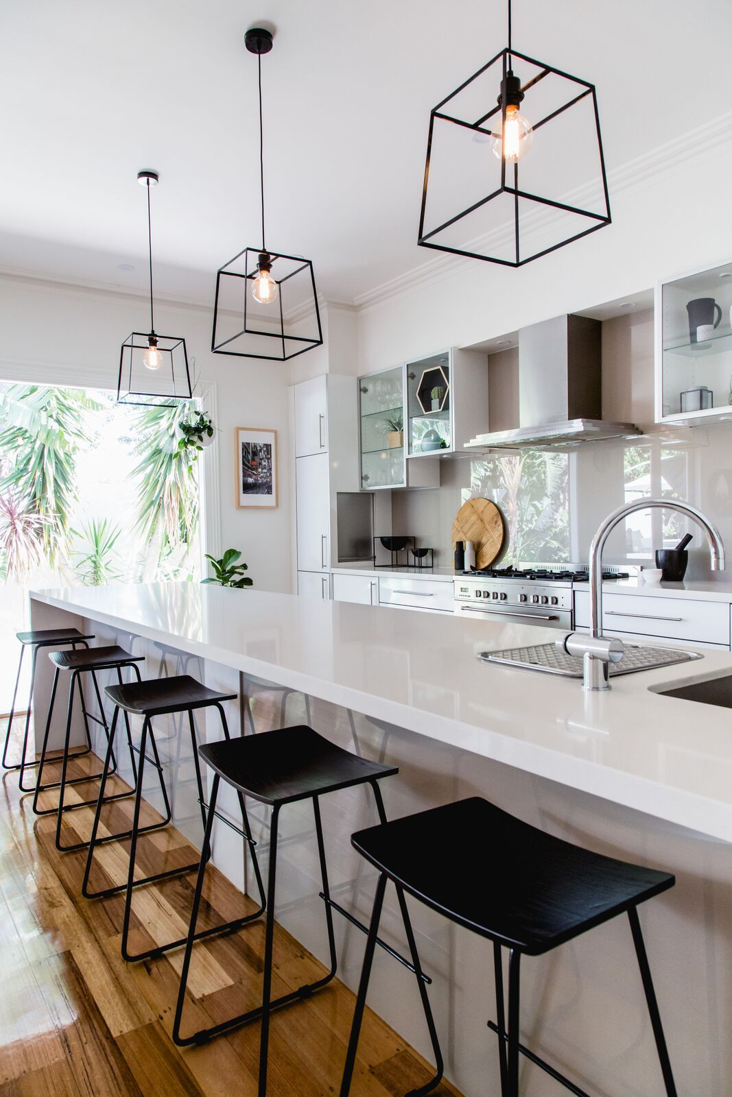 Kitchen Bar Lights Black Sink Barstools Bask Interiors Stools Counter In Pendants Breakfast Pendant