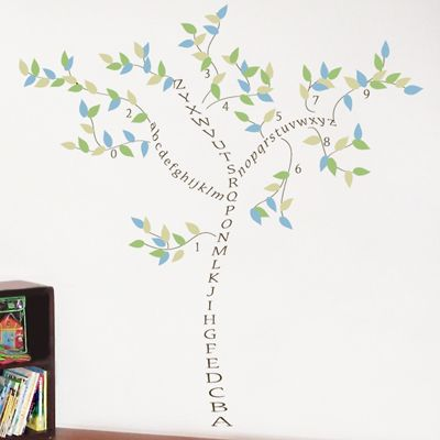 Itu0027s easy to learn your ABCs and with an Alphabet Tree wall decal by Dali Decals. & I hope my love affair with literature rubs off on my babies. | kids ...