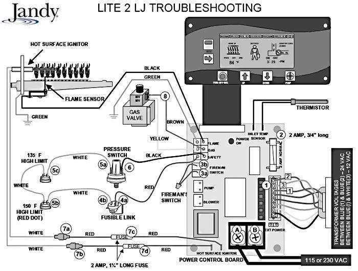 Wiring Diagram For Jandy Pool Heater - Wiring Diagrams Set on