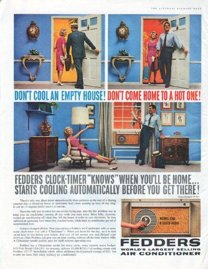 1961 Fedders Air Conditioner Vintage Ad Don T Cool An Empty House