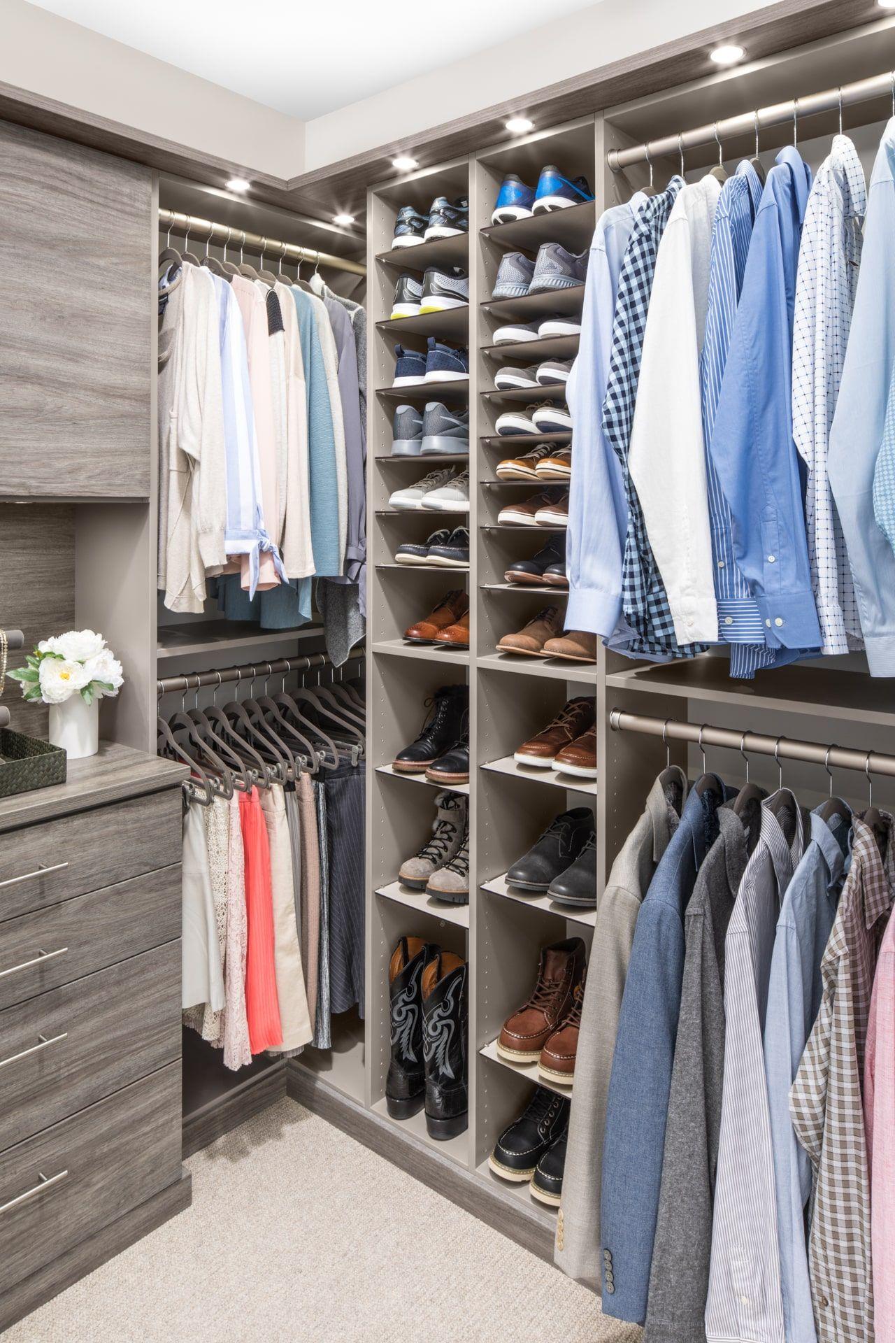 Custom walkin closet organizers inspired closets