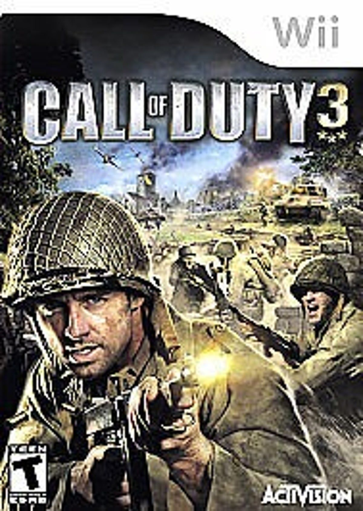 Call Of Duty 3 Nintendo Wii 2006 In 2021 Call Of Duty Video Game Genre Activision