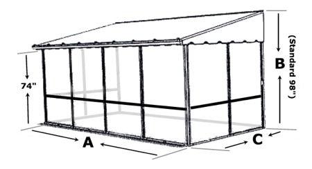 Screened In Patio Deck Enclosures Screen Enclosures Trailer Deck