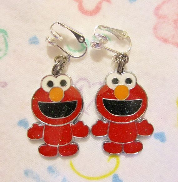 Sweet Sesame Street ELMO Character CLIPON by chalupascornernook, $6.95