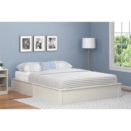 Home Full Bed Frame White Platform Bed Queen Platform Bed Frame