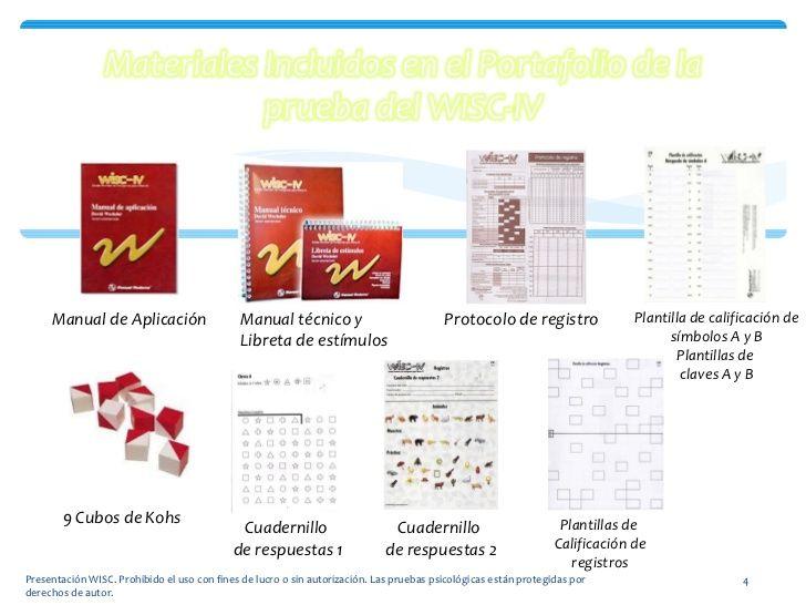 Aplicación Wisc Iv Pruebas Psicologicas Libreta Psicologia