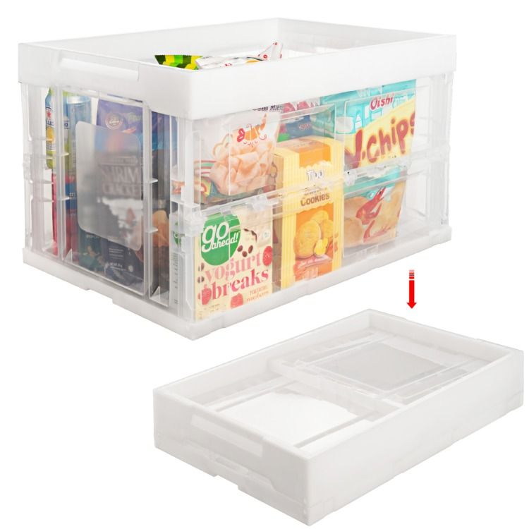 Folding Plastic Storage Box Large Storage Crate For Toys Clothes