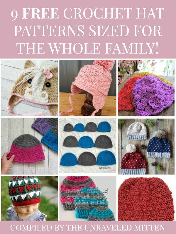 9 Crochet Hat Patterns for the Whole Family | Moogly Community Board ...