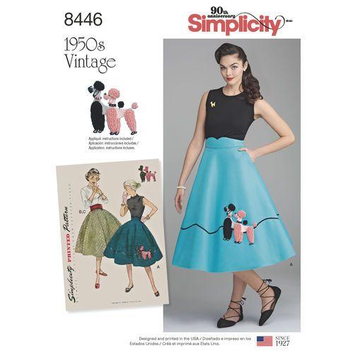Simplicity Pattern 8446 Misses\' Vintage Skirt and Cummerbund | I ...