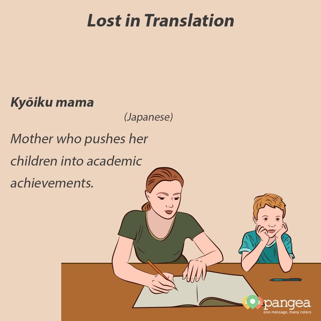 Good Morning Lost In Translation Japanese Unique Word Ky??ikumama Mother Who Pushes Her Chil Lost In Translation Academic Achievement Translation