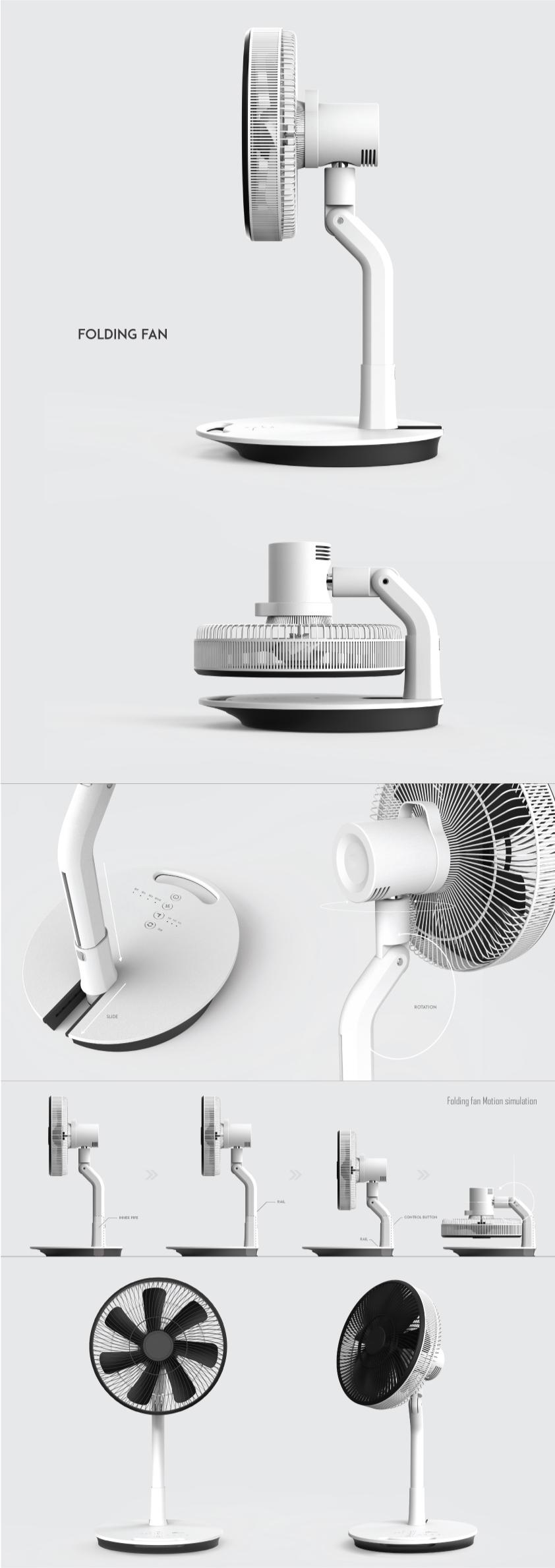 Folding Fan on Behance 제품 카탈로그 디자인, 선풍기, 제품 디자인