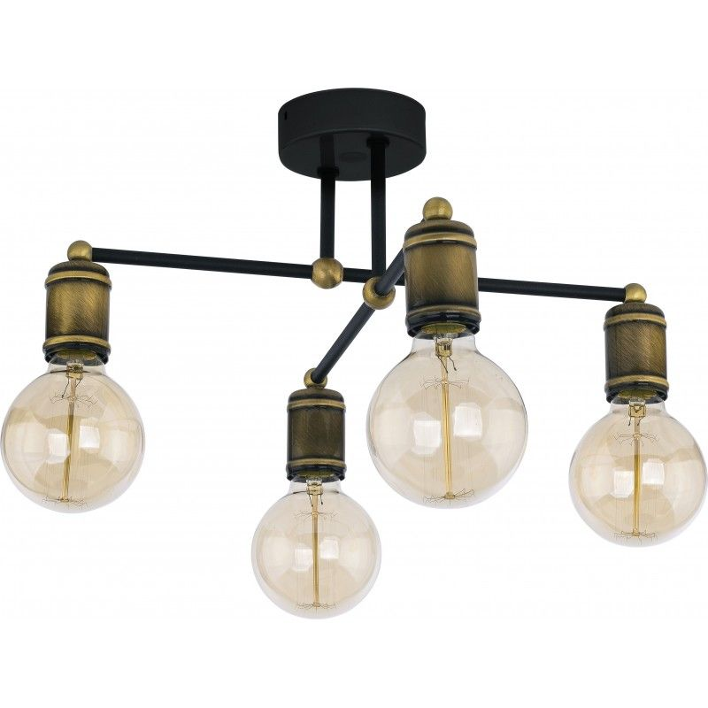 Tk Lighting Lampa Sufitowa Retro 4 Pł Lampy Do Salonu W