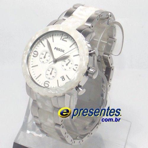 9c8935ff8db FJR1420Z Relógio FOSSIL Feminino Original Pulseira Madrepérola ...