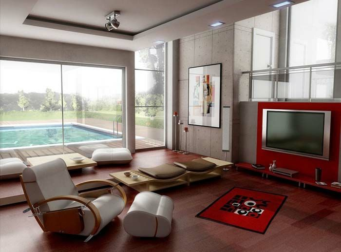 kleines wohnzimmer einrichten designer mbel modern ergonomischer sessel fuhocker - Kleines Wohnzimmer Einrichten