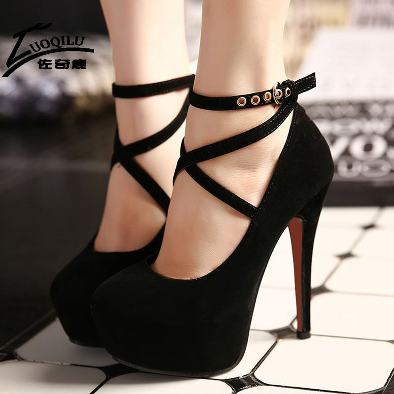 2017 Sexy Women Shoes High Heels Pumps Platform Shoes Wedge Ladies ...