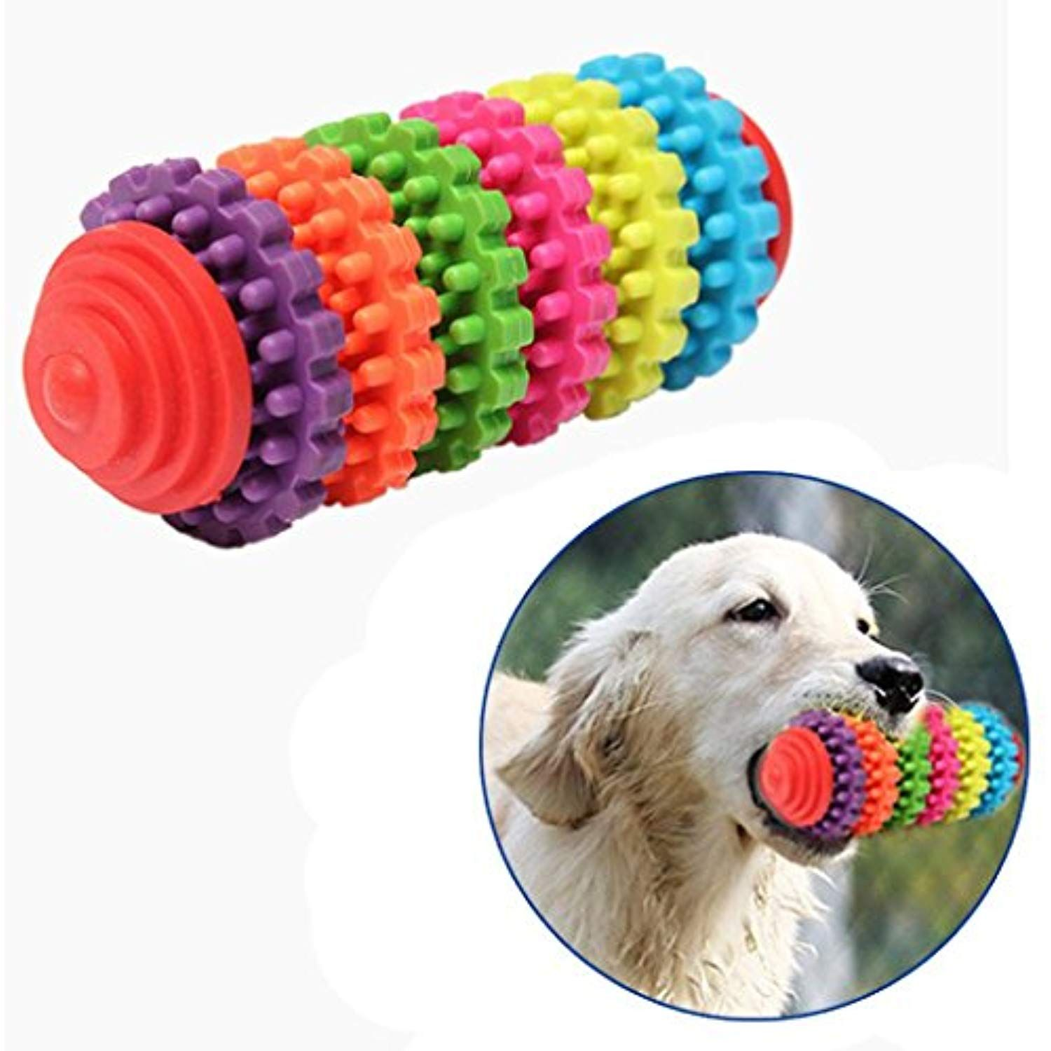 Vmree Pet Bite Toys Pet Dog Puppy Rubber Dental Teething Healthy