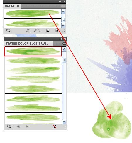 watercolor brush illustrator