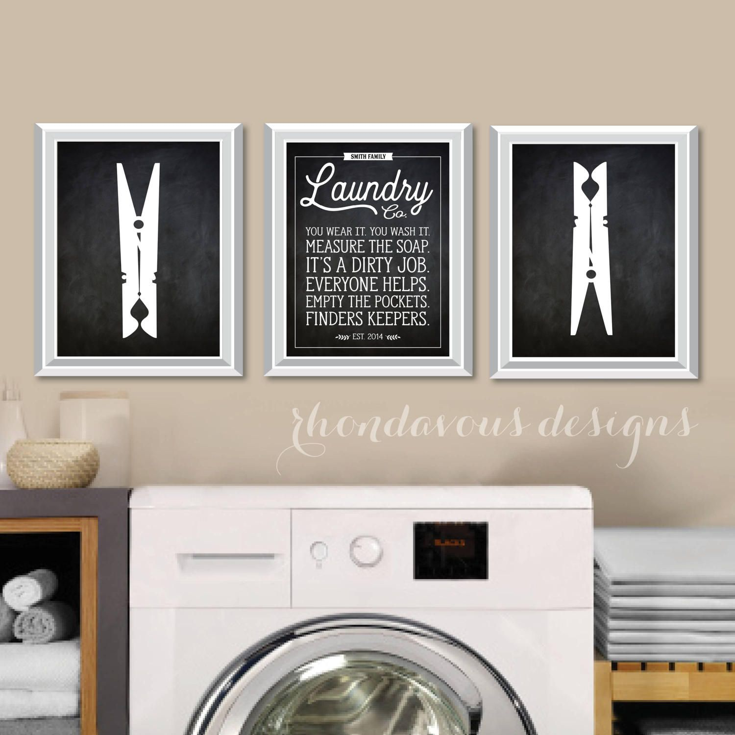 Laundry Wall Art Chalkboard Quotes Antique Signs Farmhouse Etsy