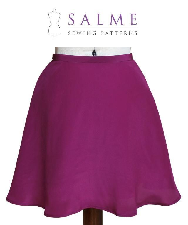 Flared Mini Skirt by Salme Patterns | Sewing Pattern | skirts ...
