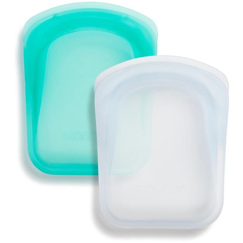 Stasher Pocket Bag 2-pack - Clear/Aqua