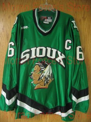 b46c27a9c cheap 2003-04 Sioux Hockey Jerseys #6 Andy Schneider Away Jersey University  of North Dakota Game Worn XXS-6XL - Free Shiping