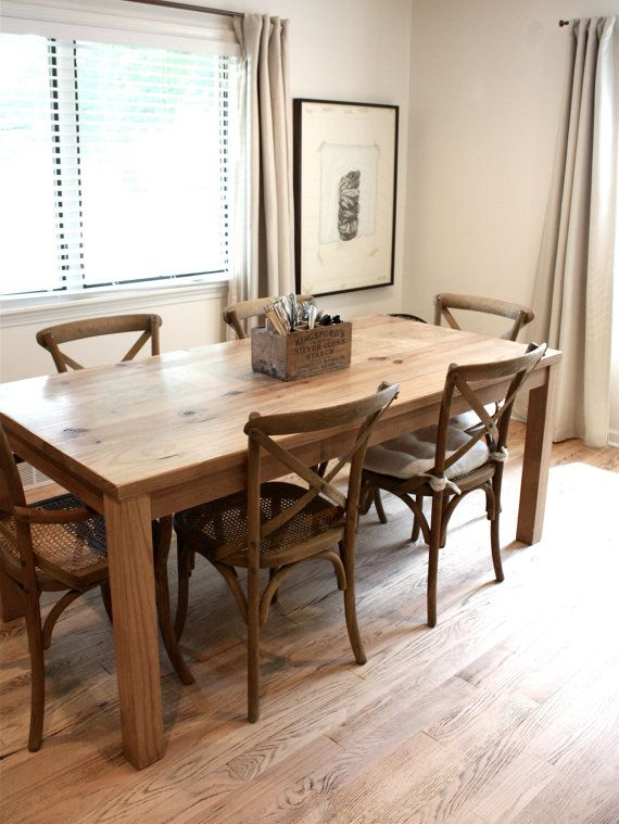 Solid Wood Parsons Dining Table Dining Table In Kitchen Table