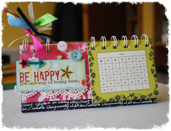 How to create your own calendar make your own desk calendar free craft class