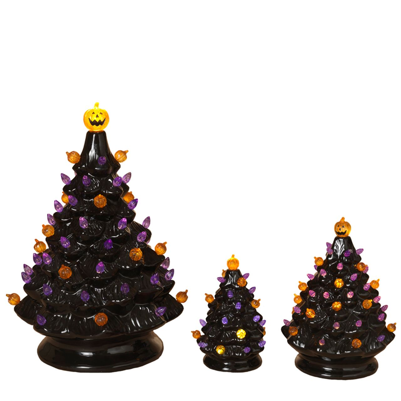 Battery Operated Lighted Halloween Ceramic Trees With Sound 2551760 In 2020 Vintage Halloween Decorations Halloween Decorations Halloween