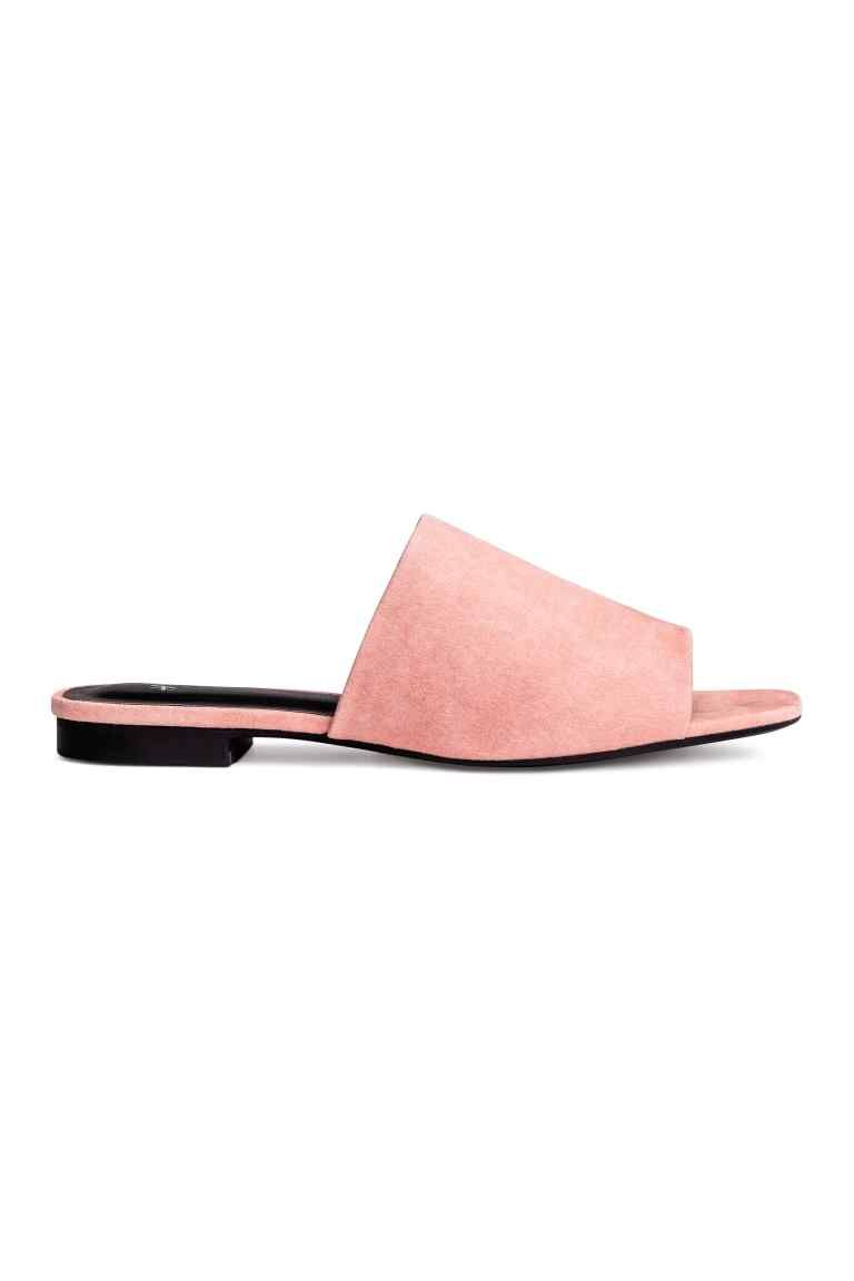 Pink Open Toe Clog Style Rubber Sandals gdT4W