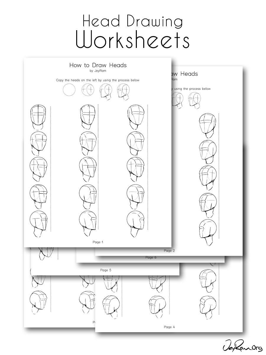 How To Draw The Head From Any Angle Free Pdf Worksheets Video Tutorial Jeyram Character Design Drawing The Human Head Videos Tutorial Learn To Draw