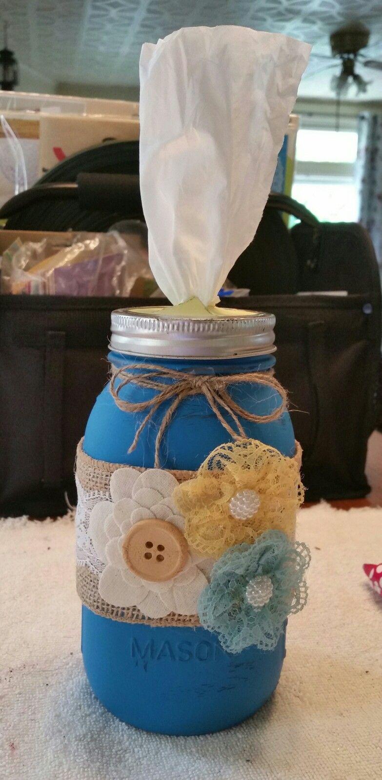 Mason Jar Tissue Holder My Own Stuff Mason Jar