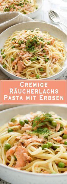 cremige r ucherlachs pasta mit erbsen einfache gesunde rezepte gesunde gerichte und r ucherlachs. Black Bedroom Furniture Sets. Home Design Ideas