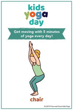 kids yoga day sequence  yoga for kids yoga day chair pose
